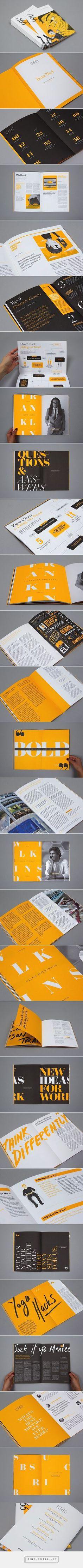 Editorial Design Inspiration: 99U Quarterly Mag No.4 | Abduzeedo Design Inspiration  - design inspiration stuff ! -