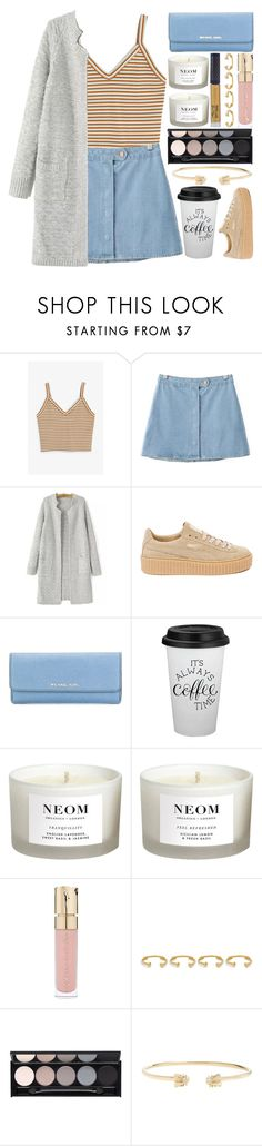 """""""Early Morning Blues"""" by weerala ❤ liked on Polyvore featuring Monki, Chicnova Fashion, Puma, MICHAEL Michael Kors, NEOM Organics, Smith & Cult, Joanna Laura Constantine, Witchery, Gucci and Winky Lux"""