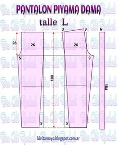 Blog de patronaje y diseño Sewing Pants, Sewing Clothes, Diy Clothes, Pajama Pattern, Pants Pattern, Easy Sewing Patterns, Clothing Patterns, Pattern Drafting, Learn To Sew