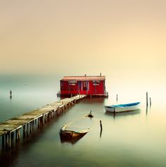 """Vassilis is known for his Black and White long exposure landscape photography. He gave caption for this works """"Between Two Worlds"""" as he dis . Stunning Photography, White Photography, Greece Photography, Exposure Photography, Landscape Photography, Cool Photos, Beautiful Pictures, Amazing Photos, Long Exposure Photos"""