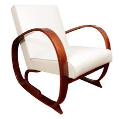 Art Deco Lounge Chair (1930s / US / Maple, ash and leather)