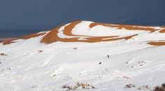 Snow in the Sahara – in pictures