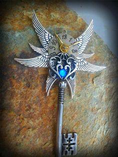 The Clockwork Guardian Fantasy Key by ArtbyStarlaMoore on Etsy, $30.00