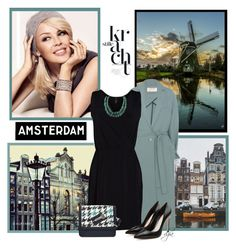 """""""Amsterdam-Kylie Minogue"""" by dgia ❤ liked on Polyvore featuring Kylie Minogue, Tim Holtz, Zimmermann, Viereck and Alexander McQueen"""