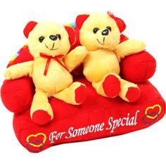 Couple teddy on a sofa  Rs 532/- http://www.tajonline.com/valentines-day-gifts/product/slw693/couple-on-sofa-toy-teddy-bear/?aff=pint2015/
