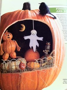 Pumpkin Diorama: I've got to get some girls together to make this!
