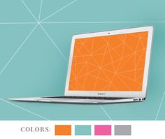 Geometric desktop wallpapers | How About Orange