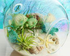 Ocean Floor Terrarium  7 Round Glass Globe by BeachCottageBoutique, $49.95