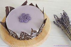 Tarta mousse de violetas | El recetario de mi cocina