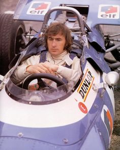 A young Jackie Stewart, Tyrrell Matra-Ford MS80, Grand Prix de France 1969 à Charade