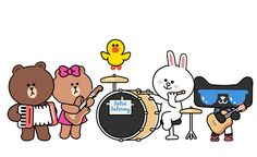 天猫 x line + 麦当劳|插画|其他插画|约翰强尼 - 原创作品 - 站酷 (ZCOOL) Cony Brown, Brown Bear, Neon Room, Brown Line, Kawaii, Bear Wallpaper, Line Friends, Line Sticker, Cute Characters