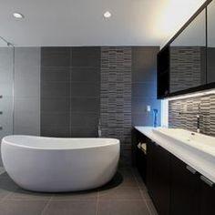 modern bathroom by clad