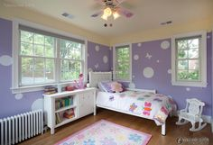 Beautiful purple children's room décor 2016