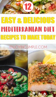 Easy Delicious Mediterranean Diet Friendly Recipes The Mediterranean on Health & Diet Guide 9474 Healthy Diet Plans, Diet Meal Plans, Healthy Eating, Healthy Recipes, Healthy Weight, Healthy Foods, Easy Mediterranean Diet Recipes, Mediterranean Food, Clean Eating