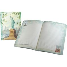 Lady Liberty Painting Punch Studio Travel Soft Cover Journal