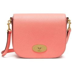 Mulberry Small Darley Satchel ($480) ❤ liked on Polyvore featuring bags, handbags, macaroon pink, pink handbags, pink purse, red leather handbags, pink leather handbags and pink leather purse
