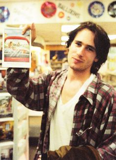 """Jeff Buckley photographed by Merri Cyr at Tower Records, NYC, December 16, 1994. """