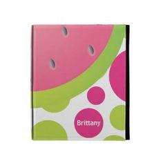 Personalized polka dot watermelon iPad case
