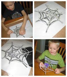 Make a spider web