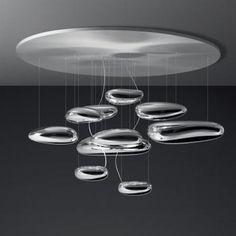 Designer lighting fixture on 2modern as created by Artist Ross Lovergrove --Artemide - Mercury Ceiling Light