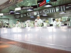Kopp's Frozen Custard, a local chain in the Milwaukee are featuring large burgers and frozen custard. This particular Kopp's has the longest counter I've ever seen in a fastfood restaurant.