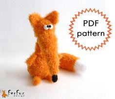 Amigurumi Crochet Pattern Fernanda Fox by FerFoxDesign on Etsy, €4.90