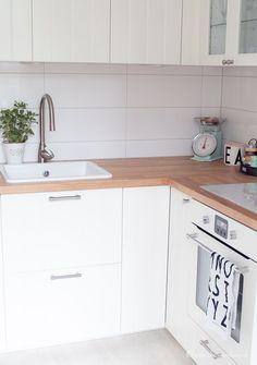 Ich habe mich für meine Altbauwohnung für eine Ikea Hittarp ... | {Landhausküchen ikea metod 33}