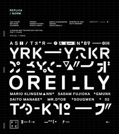 """""""After testing out a few faces, I designed a typographical one-sheet to experiment further with Norm Replica."""""""