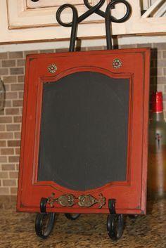 Old Cabinet Door into Chalkboard Menu