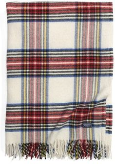 Plaid Wool Throw   Perfect Fall / Winter Couch Accessory!