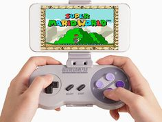 SNES30 Controller & Smartphone Holder: Go Retro, Get Nostalgic. Play Modern Games with This Classic Controller & Phone Mount
