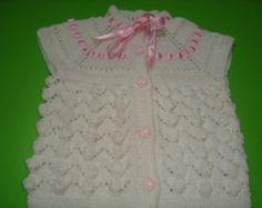 Items similar to Hand Knit Toddler Baby Sweater Vest, Knitting Baby Clothing, Toddler Baby Vest, Usa seller on Etsy