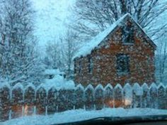 Wee House In Snow Storm