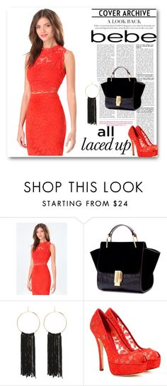 """""""All Laced Up for Spring with bebe: Contest Entry"""" by collinsangelface110 ❤ liked on Polyvore featuring Bebe, Dolce&Gabbana and alllacedup"""