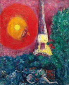 Marc Chagall - La Tour Eiffel, 1929.