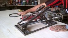 """In this article we'll be discussing power hand tools and which ones you need to get started woodworking. I'll also throw in a few """"nice to have but not necessary tools"""" (and my wife said I couldn't sa Table Saw Fence, A Table, Diy Home Supplies, Panel Saw, Homemade Tables, Adjustable Height Table, Welding Table, Grill Design, Circular Saw"""