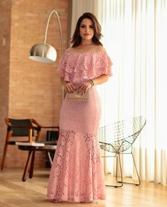 Cute fashion outfits ideas – Fashion, Home decorating Lace Ruffle, Lace Dress, Pink Lace, Evening Dresses, Prom Dresses, Formal Dresses, Pretty Dresses, Beautiful Dresses, Bodycon Dress Formal