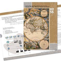 Brochure design Client: BOSS Work done: Concept & Execution - Design, layout Softwares: Adobe Illustrator, Photoshop
