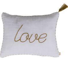 Achetez sur internet notre Coussin Love - blanc