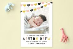 Baby Bunting Birth Announcements by Pistols at minted.com