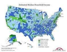 Estimated Median Household Income, 2013.  Source: U.S. Census Bureau, Small Area Income & Poverty Estimates