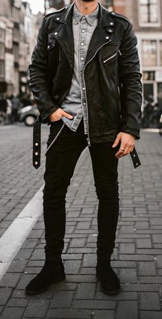 Bad Boy Outfit Picture bad boy style outfits for men mensoutfits mnner outfit Bad Boy Outfit. Here is Bad Boy Outfit Picture for you. Bad Boy Outfit outfit photo 104624 bad boy sexy and don benjamin ootd. Leather Jacket Outfits, Men's Leather Jacket, Leather Jackets, Leather Trousers, Leather Leggings, Vest Jacket, Leather Skirt, Cute Outfits For Kids, Cool Outfits