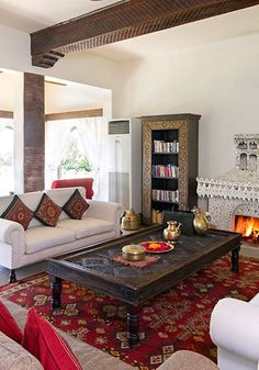 Vibrant #colours and rich #patterns makes this space come alive filing it with energy and cheer.