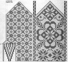Klassiske vottar – Eg sa strikk! Knitting Charts, Knitting Stitches, Knitting Socks, Knitting Patterns Free, Hand Knitting, Knitted Mittens Pattern, Crochet Mittens, Knitted Gloves, Wrist Warmers