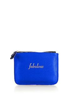 Graphic Image Fabulous Embossed Leather Pouch & Tassel Key Chain S