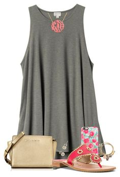 """""""It feels like summer!☀️"""" by penguinfan911 ❤ liked on Polyvore featuring H&M, Michael Kors, Casetify, Jack Rogers, Alex and Ani and J.Crew"""