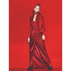 "BALMAIN on Instagram: ""BOLD RED #LindseyWixson photographed by #RichardBurbridge wears #Balmain Pre-Fall 2015 jacket styled by #KoncaAykan for #VogueTurkey"""