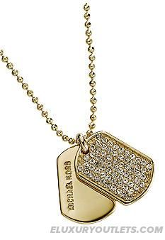 Michael kors brilliance reversible pendant necklace nordstrom newfangled michael kors jewelry goldtone pave dogtag necklace michael kors jewelry macys mozeypictures Image collections