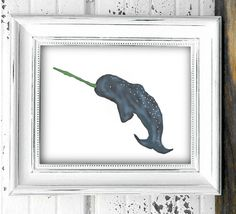 Hey, I found this really awesome Etsy listing at https://www.etsy.com/listing/232899838/narwhal-whale-art-print-instant-download