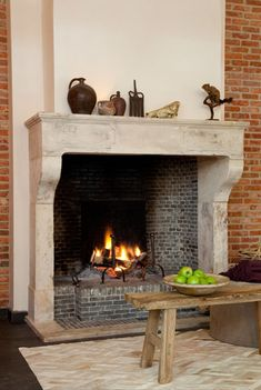 Antique fireplaces  Pol Standaert Bruges Belgium Fireplace Trim, Classic Fireplace, Family Room Fireplace, Stove Fireplace, Fireplace Mantle, Fireplace Surrounds, Fireplace Design, Fireplaces Uk, Marble Fireplaces
